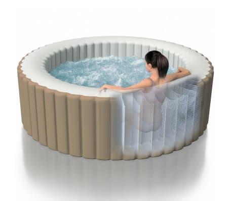 intex purespa whirlpool aufblasbar mit massaged sen 196x71cm 28404nl g nstig kaufen. Black Bedroom Furniture Sets. Home Design Ideas
