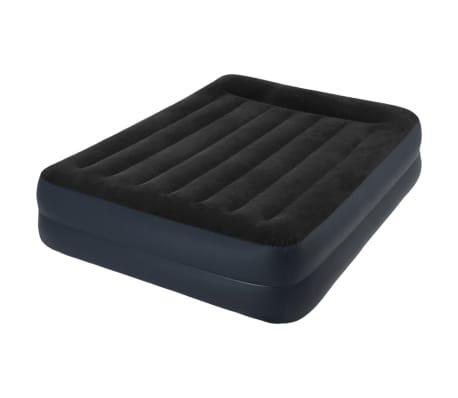 Intex Colchón hinchable con almohada PVC 152x203x42cm negro 64124[2/3]