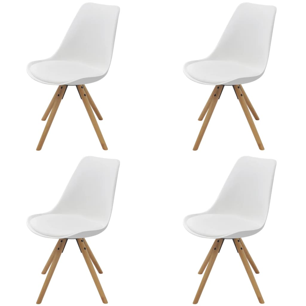 vidaXL Jídelní židle 4ks umělá kůže bílá