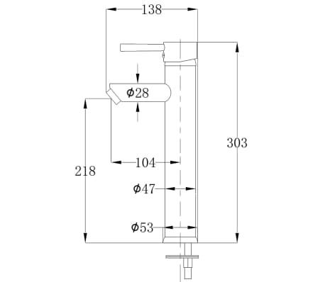vidaXL Quatre pièces pour salle de bains avec lavabo et robinet noir[12/12]
