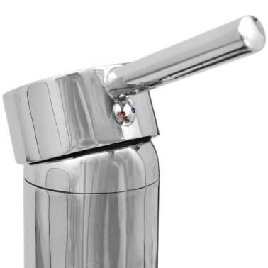 vidaXL Quatre pièces pour salle de bains avec lavabo et robinet noir[8/12]