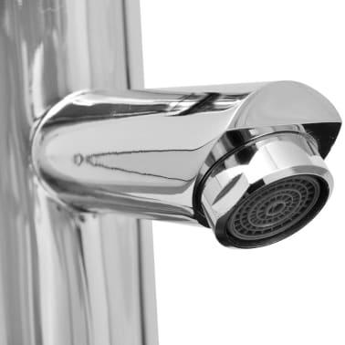 vidaXL Quatre pièces pour salle de bains avec lavabo et robinet noir[9/12]