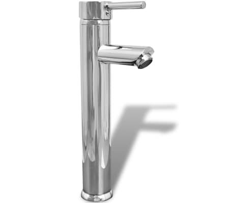 vidaXL Meuble de salle de bain 11 pcs avec lavabo et robinet Noir[9/13]