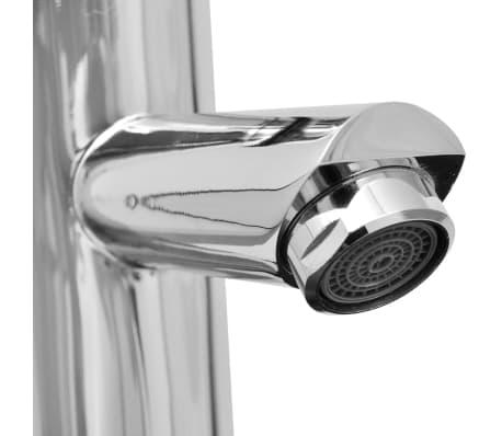 vidaXL Meuble de salle de bain 11 pcs avec lavabo et robinet Noir[10/13]