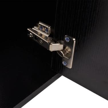 vidaXL Meuble de salle de bain 11 pcs avec lavabo et robinet Noir[5/13]