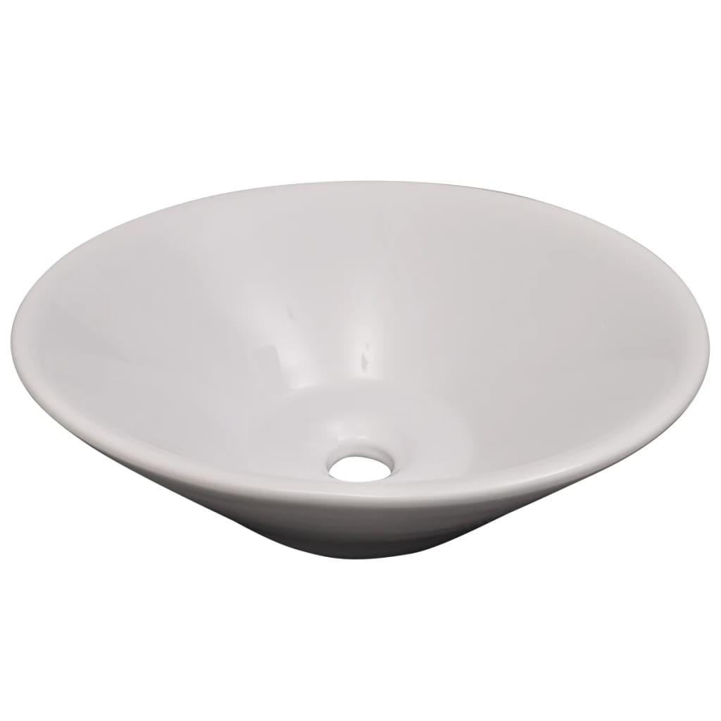 10-Delni Komplet Kopalniškega Pohištva Umivalnik + Pipa Bež