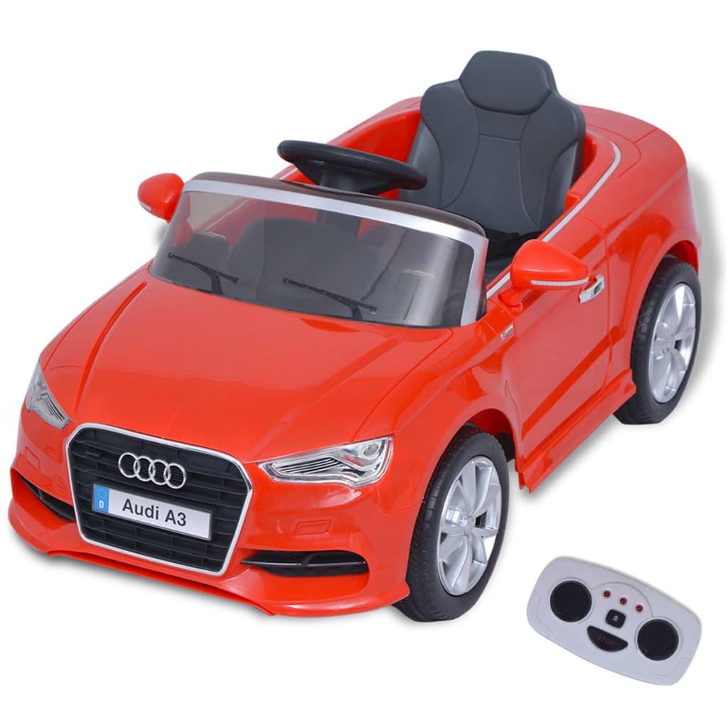 vidaXL Elektrické dětské auto s dálkovým ovládáním Audi A3 červené