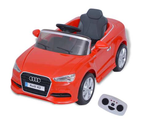 vidaXL Elektrinis vaikiškas automobilis, nuot. valdymas, Audi A3, raudonas[1/10]