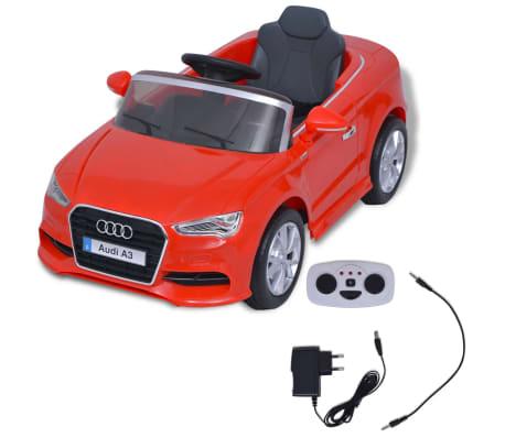 vidaXL Elektrinis vaikiškas automobilis, nuot. valdymas, Audi A3, raudonas[2/10]