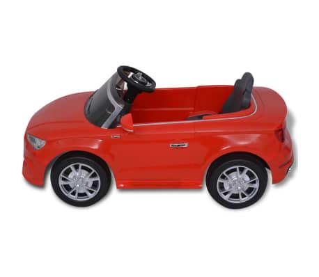 vidaXL Elektrinis vaikiškas automobilis, nuot. valdymas, Audi A3, raudonas[5/10]