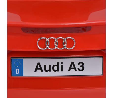 vidaXL Elektrinis vaikiškas automobilis, nuot. valdymas, Audi A3, raudonas[7/10]