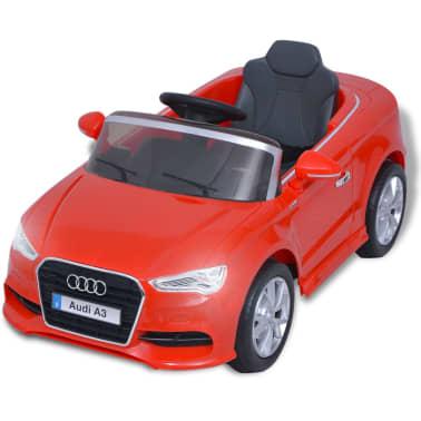 vidaXL Elektrinis vaikiškas automobilis, nuot. valdymas, Audi A3, raudonas[3/10]