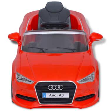 vidaXL Elektrinis vaikiškas automobilis, nuot. valdymas, Audi A3, raudonas[4/10]