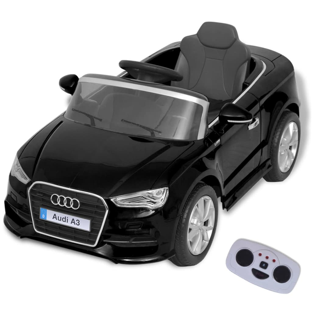 vidaXL VidaXL Elektrische speelgoedauto met afstandsbediening Audi A3 zwart