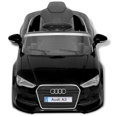 acheter vidaxl voiture lectrique pour enfants t l command e audi a3 noir pas cher. Black Bedroom Furniture Sets. Home Design Ideas