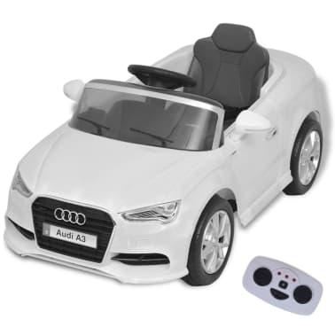 vidaXL Elektrinis vaikiškas automobilis, nuot. valdymas, Audi A3, baltas[1/10]