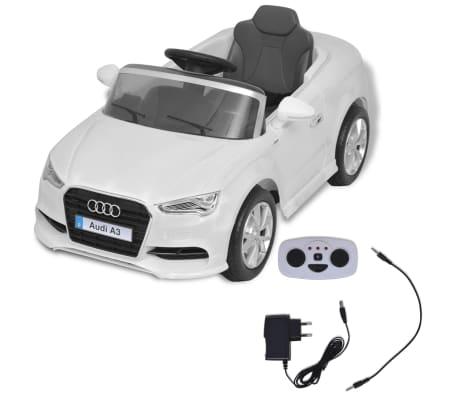 vidaXL Elektrinis vaikiškas automobilis, nuot. valdymas, Audi A3, baltas[2/10]