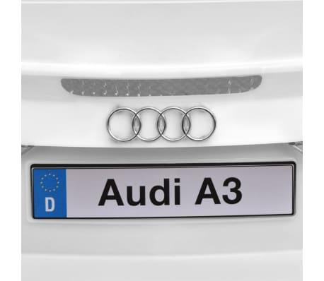 vidaXL Elektrinis vaikiškas automobilis, nuot. valdymas, Audi A3, baltas[7/10]