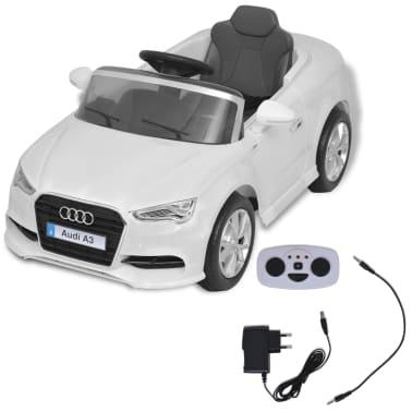 vidaXL Mașină electrică Audi A3 cu telecomandă, alb[2/10]