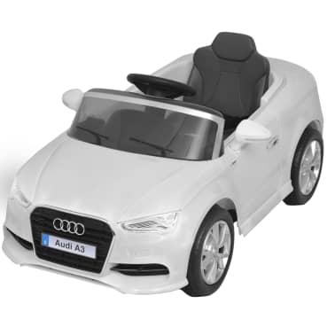 vidaXL Elektrinis vaikiškas automobilis, nuot. valdymas, Audi A3, baltas[3/10]
