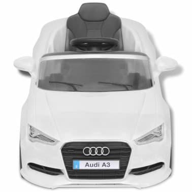 vidaXL Elektrinis vaikiškas automobilis, nuot. valdymas, Audi A3, baltas[4/10]