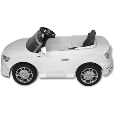 vidaXL Elektrinis vaikiškas automobilis, nuot. valdymas, Audi A3, baltas[5/10]