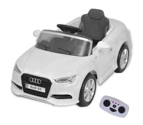 acheter vidaxl voiture lectrique pour enfants t l command e audi a3 blanc pas cher. Black Bedroom Furniture Sets. Home Design Ideas