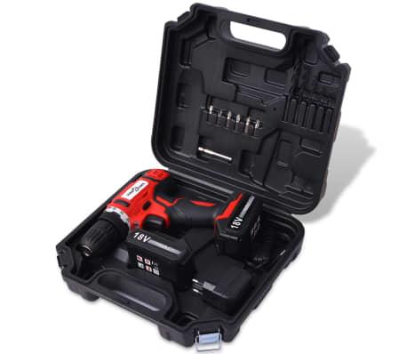 vidaXL Kit de perceuse-visseuse sans fil avec batteries Li-ion 18 V[2/7]