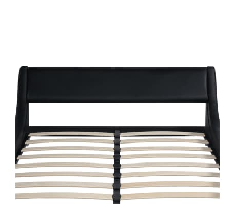 vidaXL Bed Frame 5FT King Size/150x200cm Artificial Leather Curl Black[5/5]