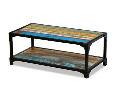 vidaXL Coffee Table Solid Reclaimed Wood[3/8]