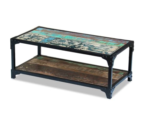 vidaXL Coffee Table Solid Reclaimed Wood[4/8]