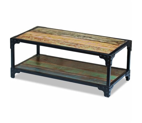 vidaXL Coffee Table Solid Reclaimed Wood[5/8]
