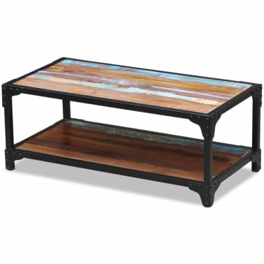 vidaXL Coffee Table Solid Reclaimed Wood[2/8]