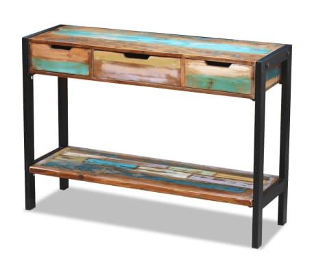 vidaXL Sideboard 3 Drawers Solid Reclaimed Wood