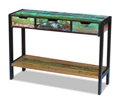 vidaXL Sideboard 3 Drawers Solid Reclaimed Wood[2/8]