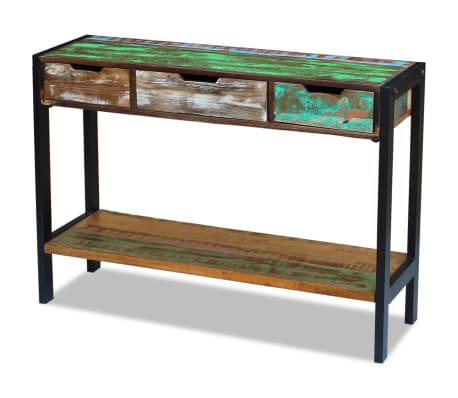 vidaXL Sideboard 3 Drawers Solid Reclaimed Wood[5/8]
