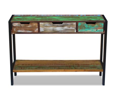 vidaXL Sideboard 3 Drawers Solid Reclaimed Wood[6/8]