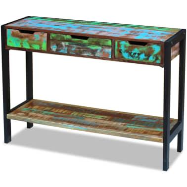 vidaXL Sideboard 3 Drawers Solid Reclaimed Wood[3/8]