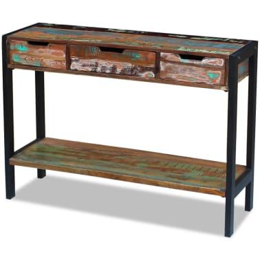 vidaXL Sideboard 3 Drawers Solid Reclaimed Wood[4/8]