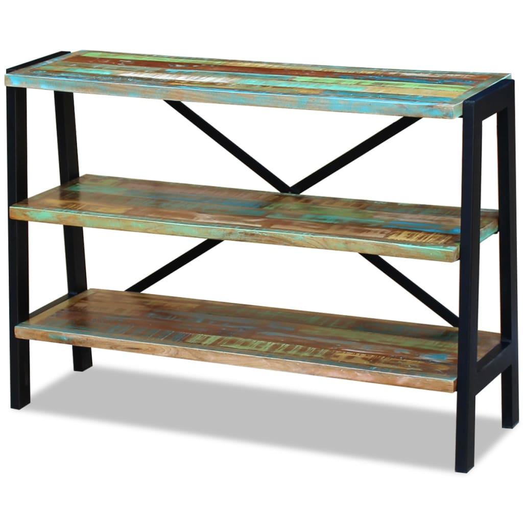 vidaXL Příborník / regál se 3 policemi z masivního recyklovaného dřeva