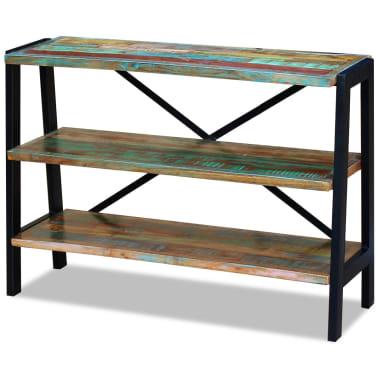 vidaXL Sideboard 3 Shelves Solid Reclaimed Wood[3/8]