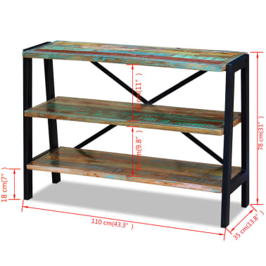 vidaXL Sideboard 3 Shelves Solid Reclaimed Wood[8/8]