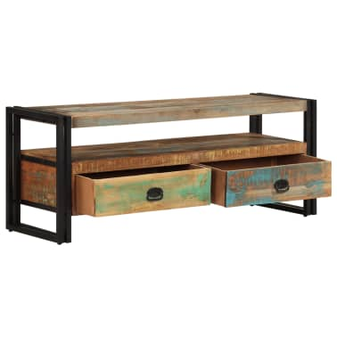 vidaXL TV Cabinet Solid Reclaimed Wood[3/8]