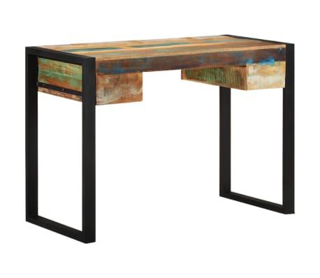 acheter vidaxl bureau bois de r cup ration massif pas cher. Black Bedroom Furniture Sets. Home Design Ideas