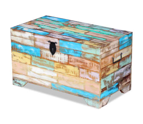 vidaXL Storage Chest Solid Reclaimed Wood[4/9]