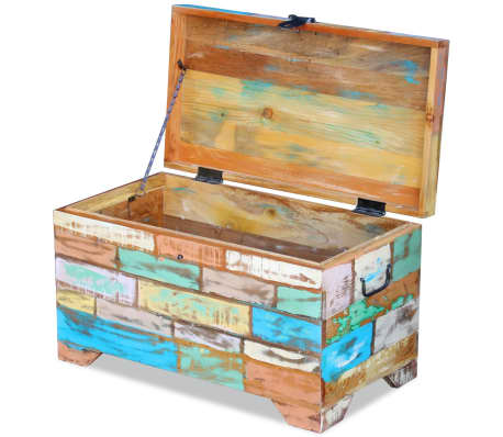 vidaXL Storage Chest Solid Reclaimed Wood[7/9]