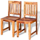 vidaXL Cadeiras de jantar, madeira sheesham sólida 2 pcs