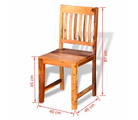 vidaXL Dining Chairs 2 pcs Solid Sheesham Wood[9/9]