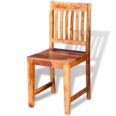 vidaXL Dining Chairs 2 pcs Solid Sheesham Wood[3/9]