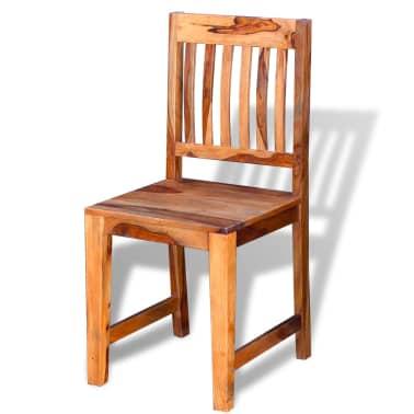 vidaXL Dining Chairs 2 pcs Solid Sheesham Wood[5/9]